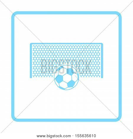 Soccer Gate With Ball On Penalty Point  Icon