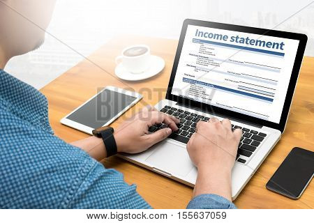 Income Statement Employment Businessman Assessment  accounting Balance