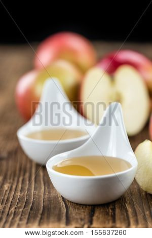 Portion Of Fresh Made Applesauce (selective Focus)