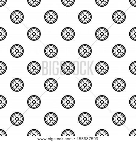 Camera aperture pattern. Simple illustration of camera aperture vector pattern for web