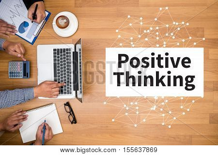 POSITIVE THINKING action, adult, attitude, background, belief,