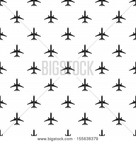 Airplane pattern. Simple illustration of airplane vector pattern for web