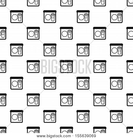 Rouge and brush pattern. Simple illustration of rouge and brush vector pattern for web