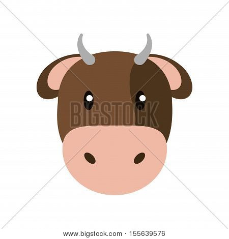 Cow icon. Livestock animal life nature and fauna theme. Isolated design. Vector illustration