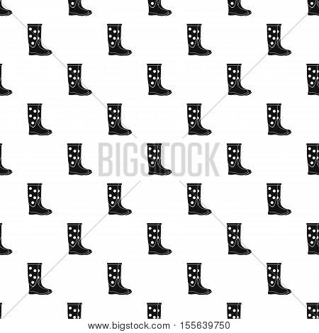 Rubber boot pattern. Simple illustration of rubber boot vector pattern for web