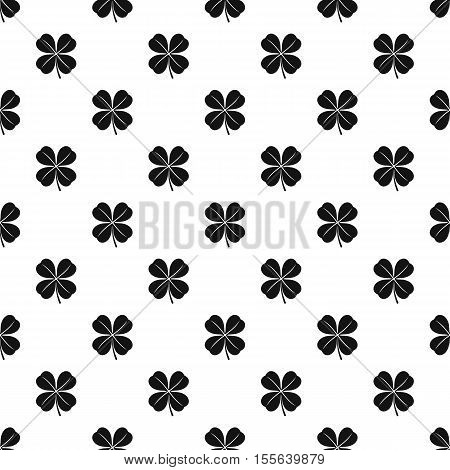 Four leaf clover leaf pattern. Simple illustration of four leaf clover leaf vector pattern for web