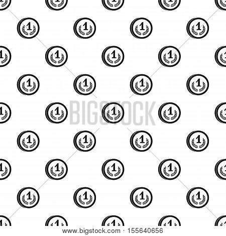 Medal first place pattern. Simple illustration of medal first place vector pattern for web