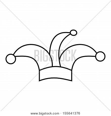 Jester hat icon. Outline illustration of jester hat vector icon for web design