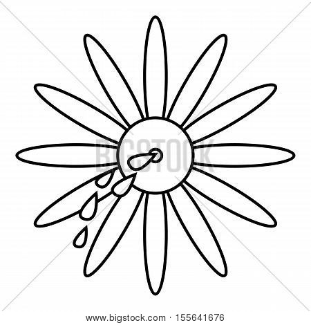 April fools day flower icon. Outline illustration of april fools day flower vector icon for web design
