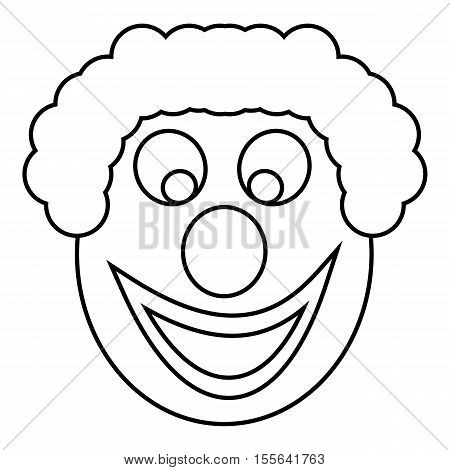 Clown head icon. Outline illustration of clown head vector icon for web design