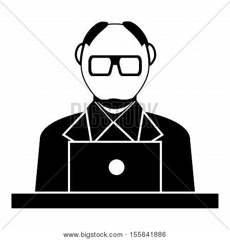Museum security guard icon. Simple illustration of museum security guard vector icon for web design