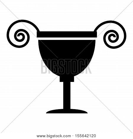 Ancient vase icon. Simple illustration of ancient vase vector icon for web design