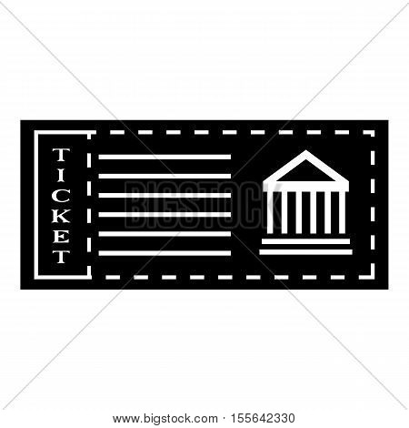 Ticket to museum icon. Simple illustration of ticket to museum vector icon for web design