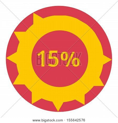 Sign download 15 percent icon. Flat illustration of web preloader vector icon for web design