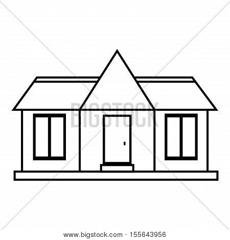 Suburb house icon. Outline illustration of house vector icon for web design
