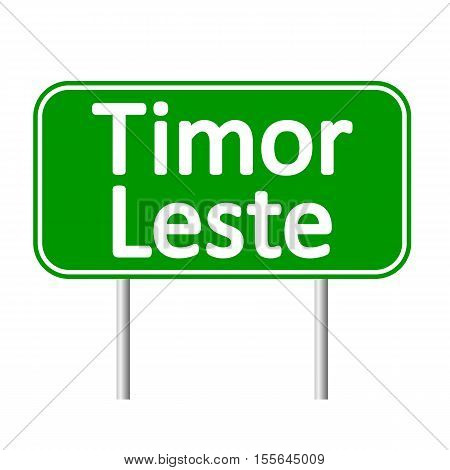 Timor Leste road sign isolated on white background.