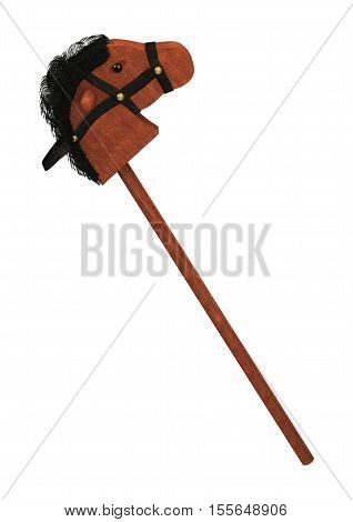 3D Rendering Hobby Horse On White