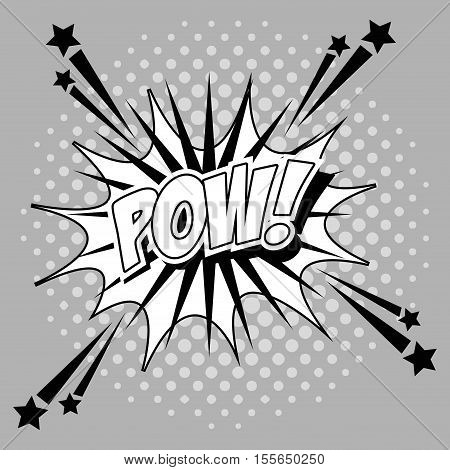 Bubble pop art of pow icon. Comic communication retro and expression theme. Vector illustration