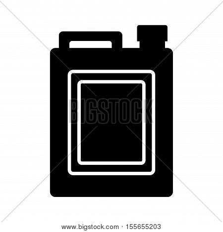 oil gallon bottle with tap icon over white background. vector illustration
