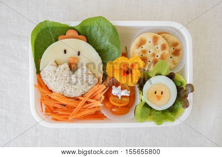 Easter chick lunch box fun food art for kids
