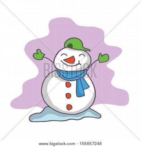 Cartoon of snowman collection stock vector art