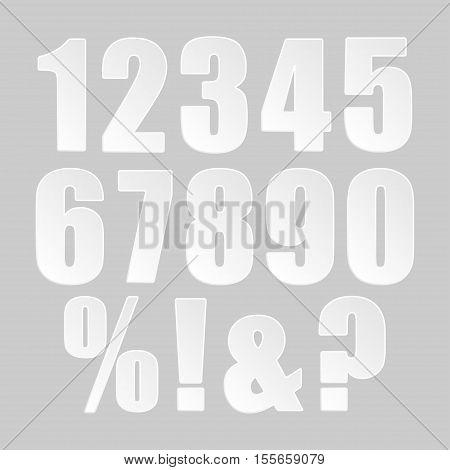Paper banner template for business design, infographics. Vector illustration eps10. Vector object for your idea. Mockup. Number digit number score. 123.