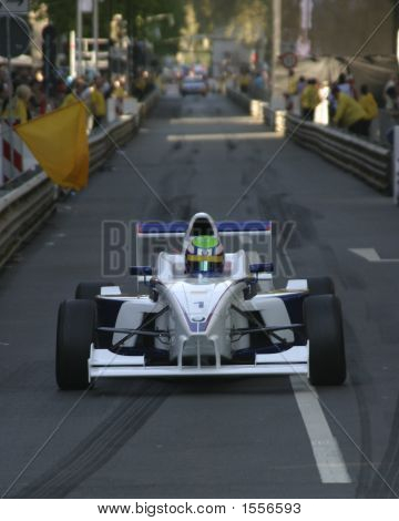 Formula Car In The City