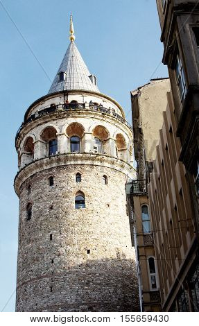 Galata Tower, ancient Genoese tower of Istanbul