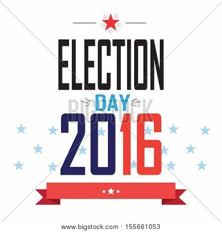 American Presidential Election 2016 banner. For Election day, Vote - Web banner, Poster or brochure template. Vector illustration.