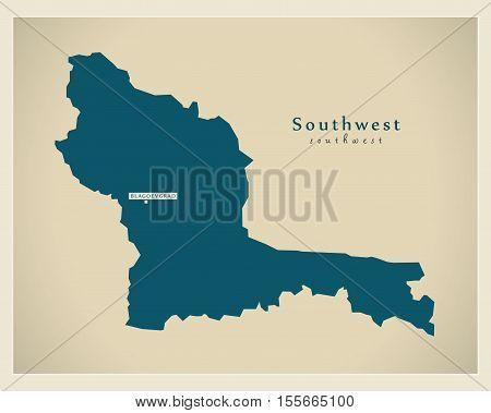 Modern Map - Southwest BG vector illustration