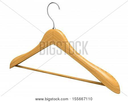 Single Isolated Wooden Hanger 3