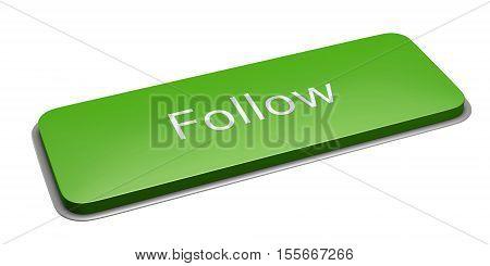 Green Rectangle Follow Button