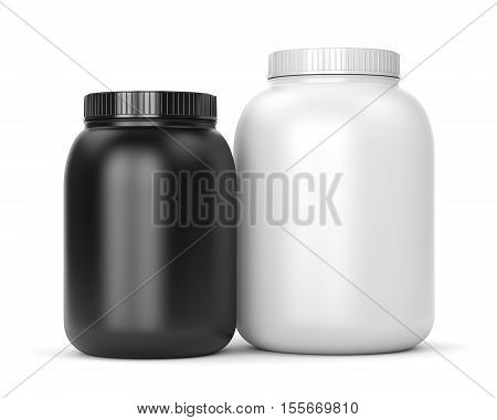 Two Cans Of Sport Supplements