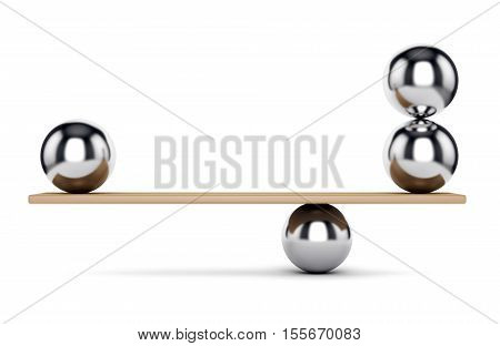 Metal Balls On Scale