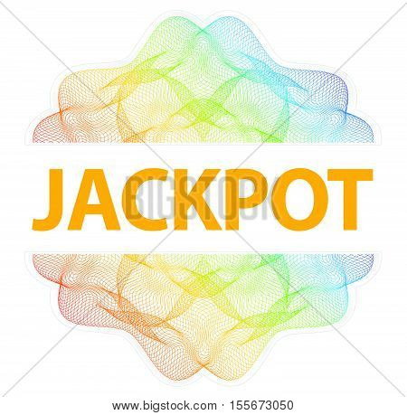 Jackpot - Guilloche Rosette With Text On White Background