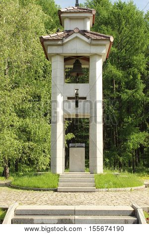 The chapel, erected in memory of Spanish volunteers. Poklonnaya hill