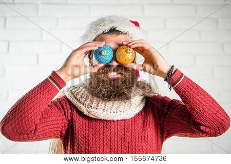 Christmas Man With Decorative Balls