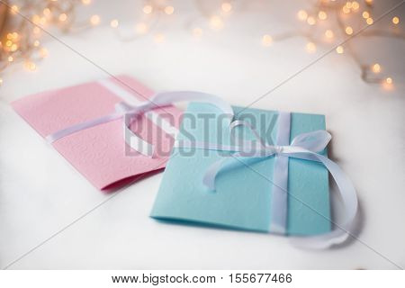 Close Up Of Two Greeting Cards