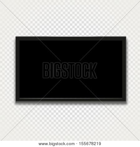Modern tv isolated on transparent background