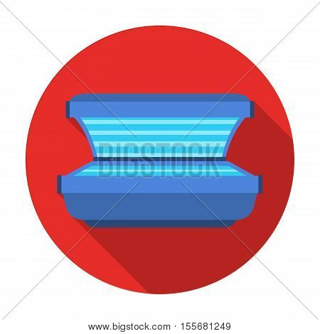 Tanning bed icon in flat style isolated on white background. Skin care symbol vector illustration.