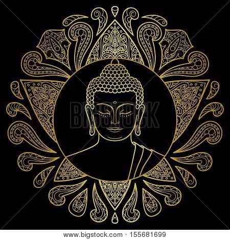 Gold Buddha With Lotus