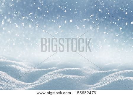 Winter  Christmas background.Merry Christmas and happy New Year greeting card with copy-space.Christmas background