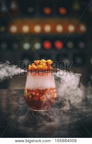 Fruit Soup With Shrimp Popcorns