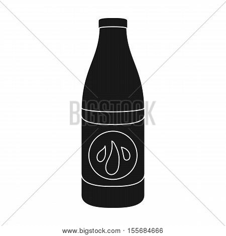 Lotion icon in black style isolated on white background. Skin care symbol vector illustration.