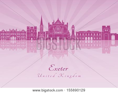 Exeter Skyline In Purple Radiant Orchid