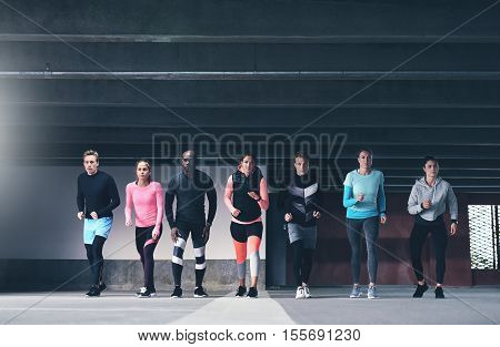 Group Of Multiethnic Young Athletes