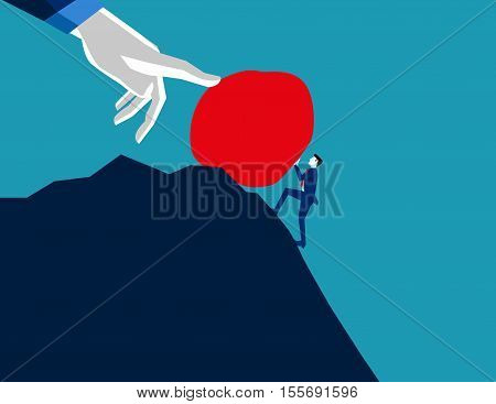 A Difficult Task. Concept Business Illustration. Vector Flat