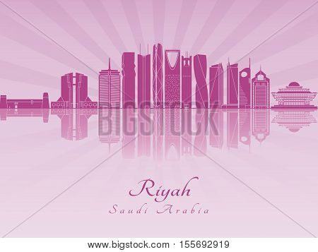 Riyadh V2 Skyline In Purple Radiant Orchid