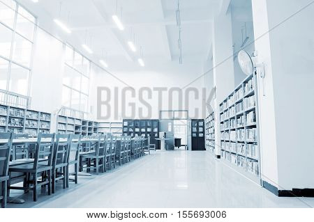 The library holds a large number of books.