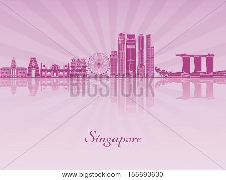 Singapore V2 Skyline In Purple Radiant Orchid